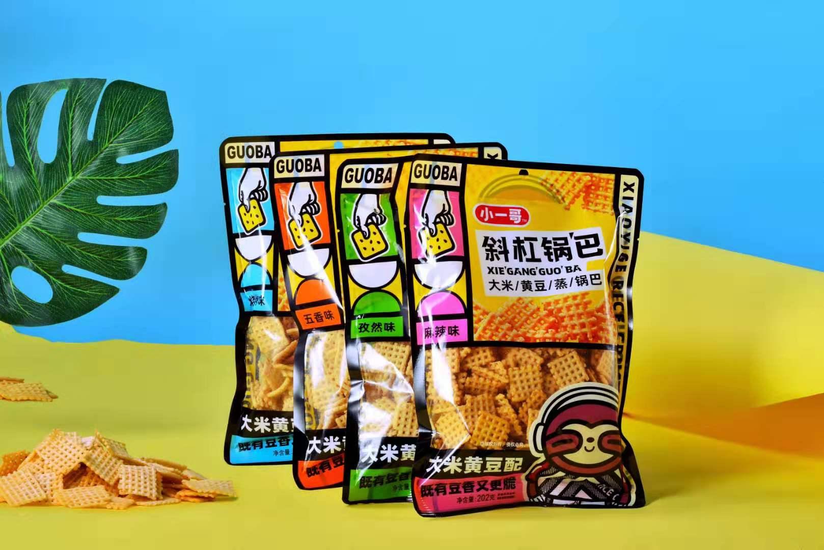 斜杠锅巴--大米黄豆配